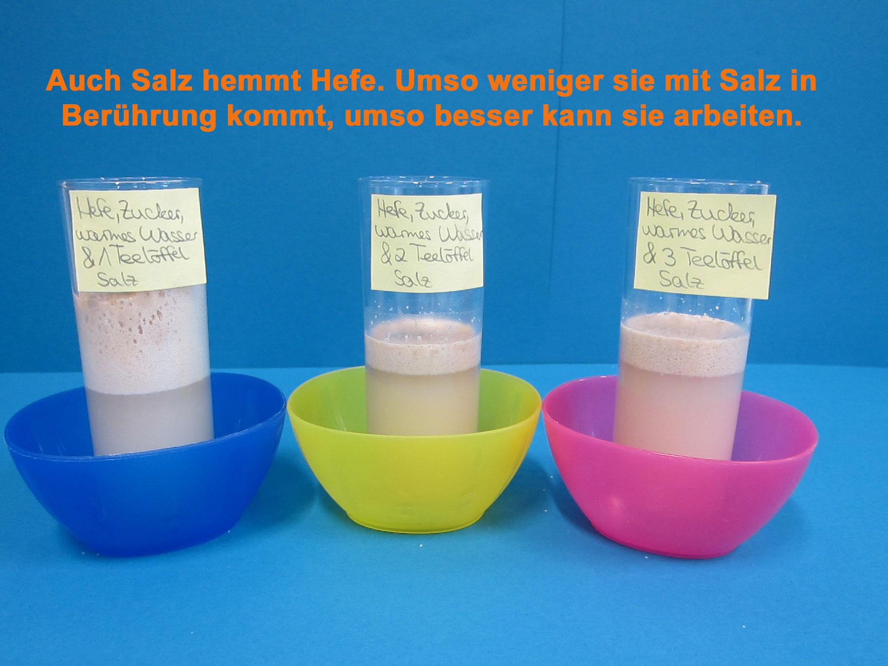 Auflösung Salz-Versuch