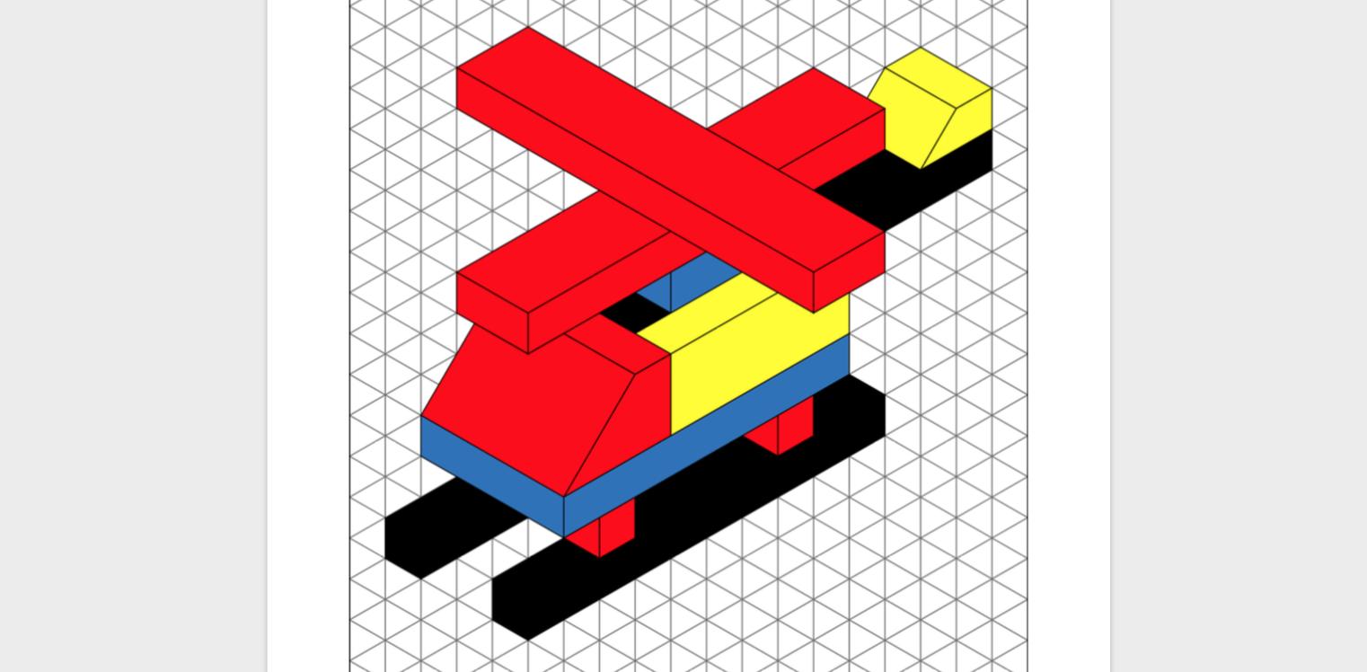 Hubschrauber perspektivische Zeichnung